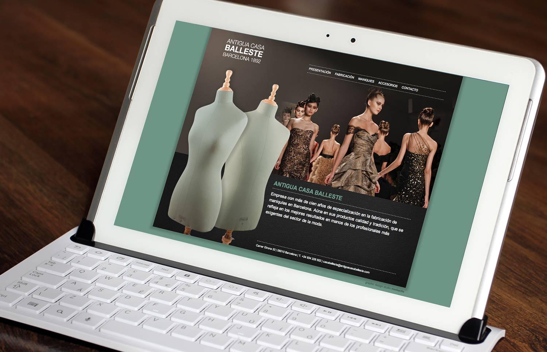 diseno paginas web estudio grafico barcelona - Diseño web para Antigua Casa Balleste
