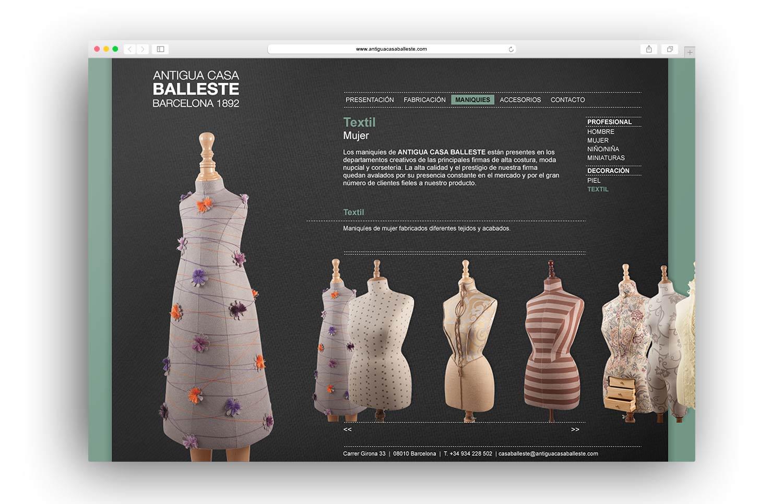 estudio de diseno web en barcelona - Diseño web para Antigua Casa Balleste