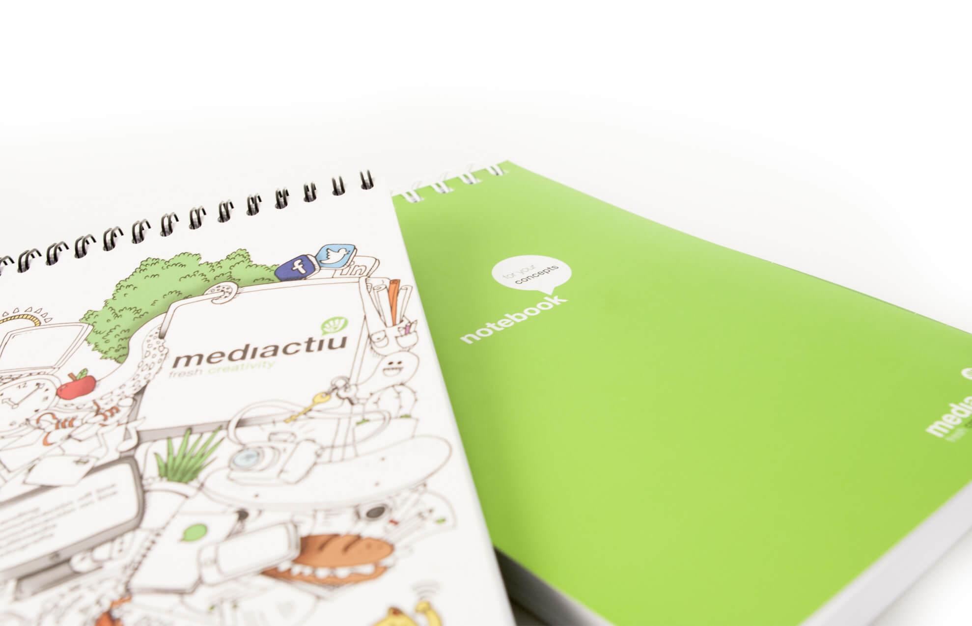 Libreta mediactiu ilustracion 4 - Ilustración. Merchandising