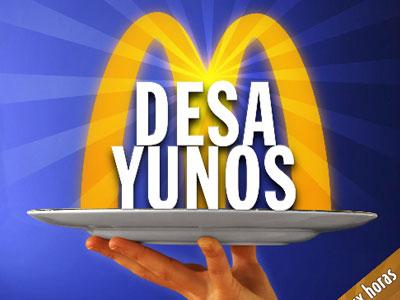 McDonals Desayunos - Campaña promocional. Diseño gráfico.
