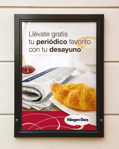 grafico cartel publicidad barcelona HaagenDazs - Trade Marketing. Diseño gráfico. Campaña promocional
