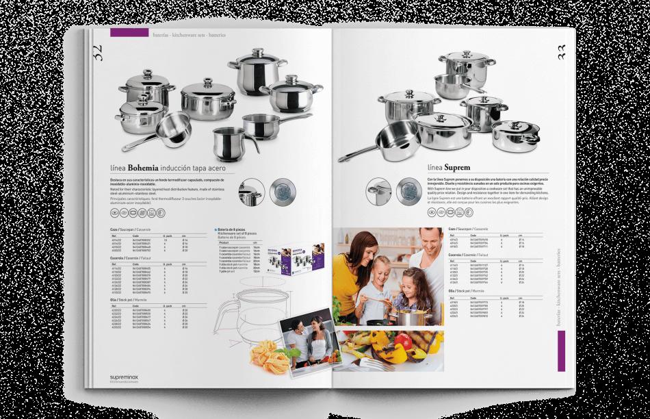 barcelona design studio editorial 950x612 - Diseño del Catálogo de Supreminox 2014