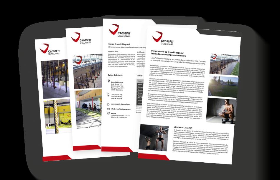 branding crossfit diagonal barcelona flyer premsa 950x612 1 - Proyecto global de comunicación para CrossFit Diagonal