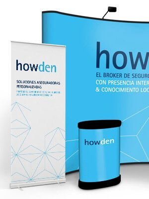 UBK Howden marketing evento popup estructura1 - Stands. Events. Graphic design. Howden