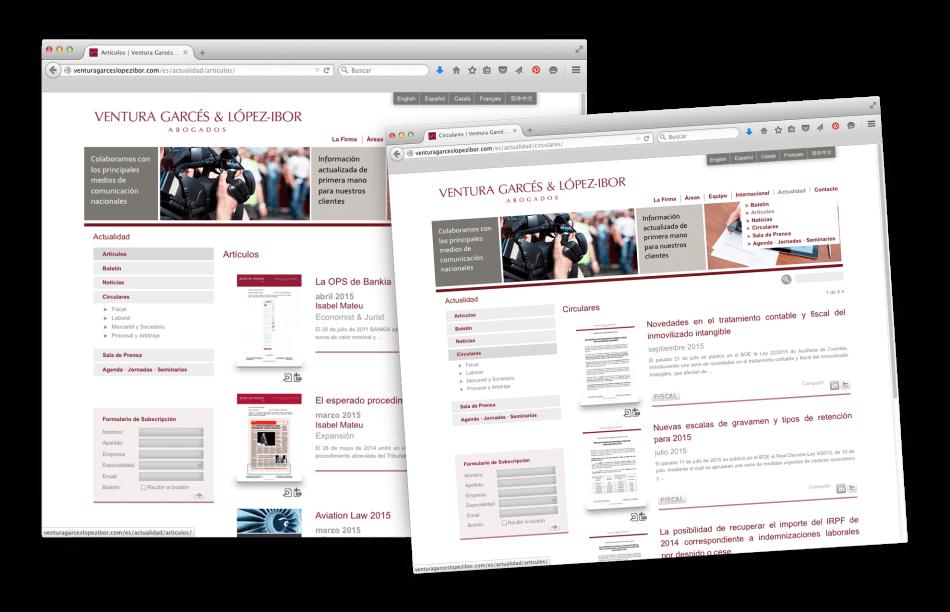 Lopez ibor abogados web 950x612 - Página web de Ventura Garcés y López Ibor abogados
