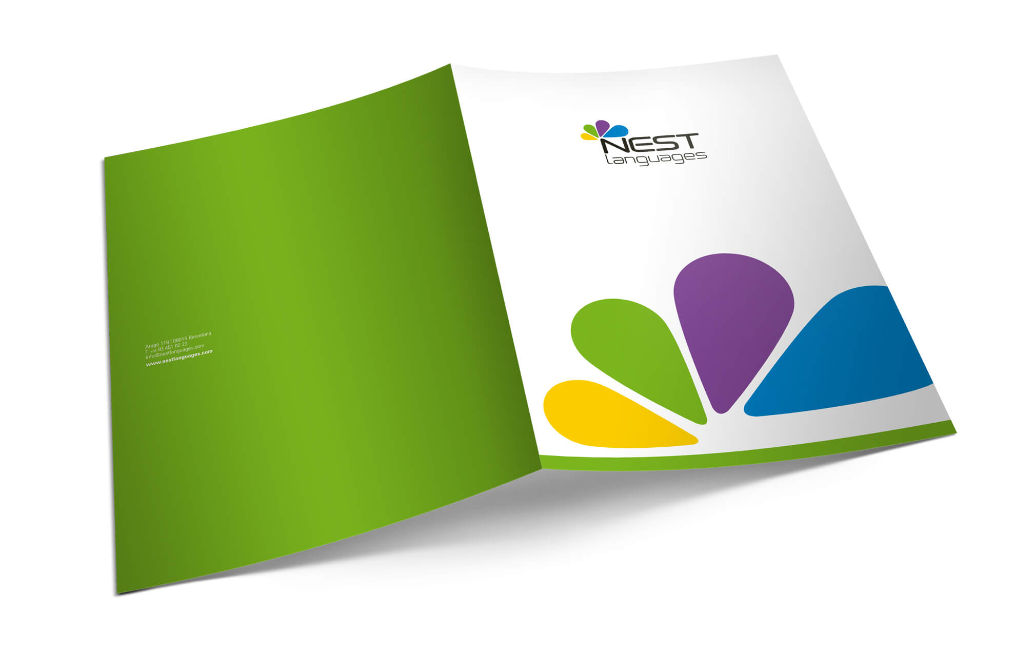 Corporate folder branding barcelona1 - Branding. Creación de marca. Nest