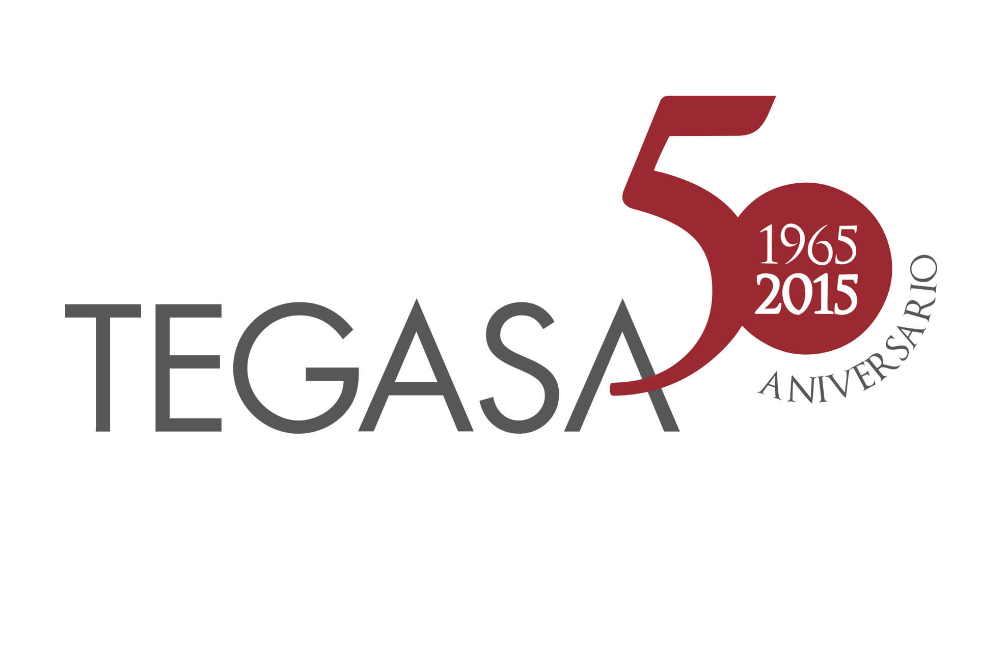 Tegas logotipo conmemorativo 501 - Branding. Conmemorativo. Sector servicios
