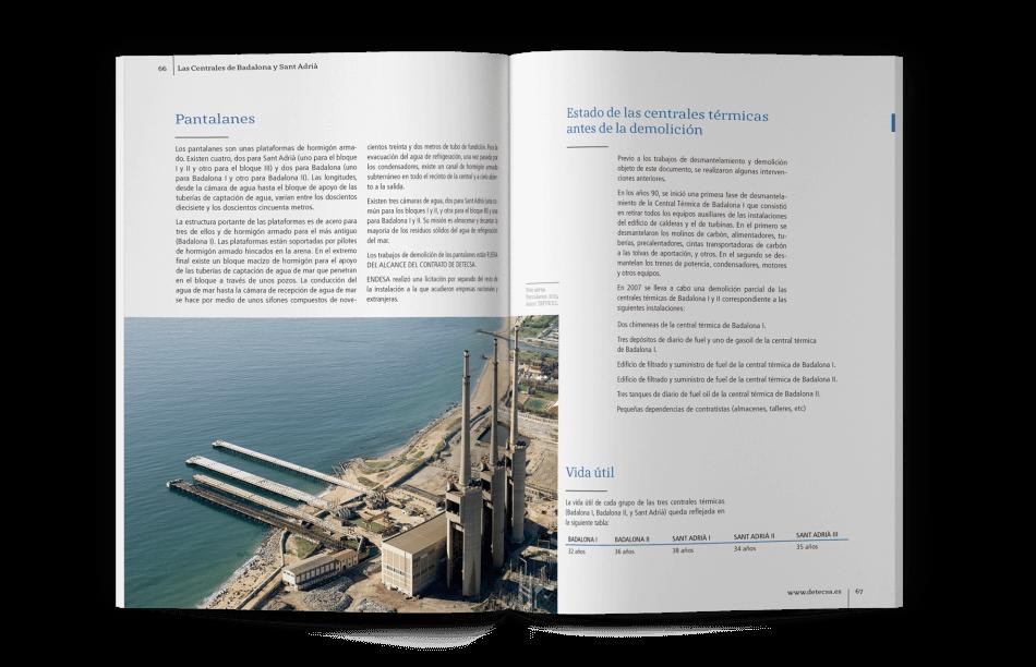 Chimeneas barcelona libro demolicion 950x612 - Demolición y desmantelamiento de centrales térmicas de Badalona y Sant Adrià