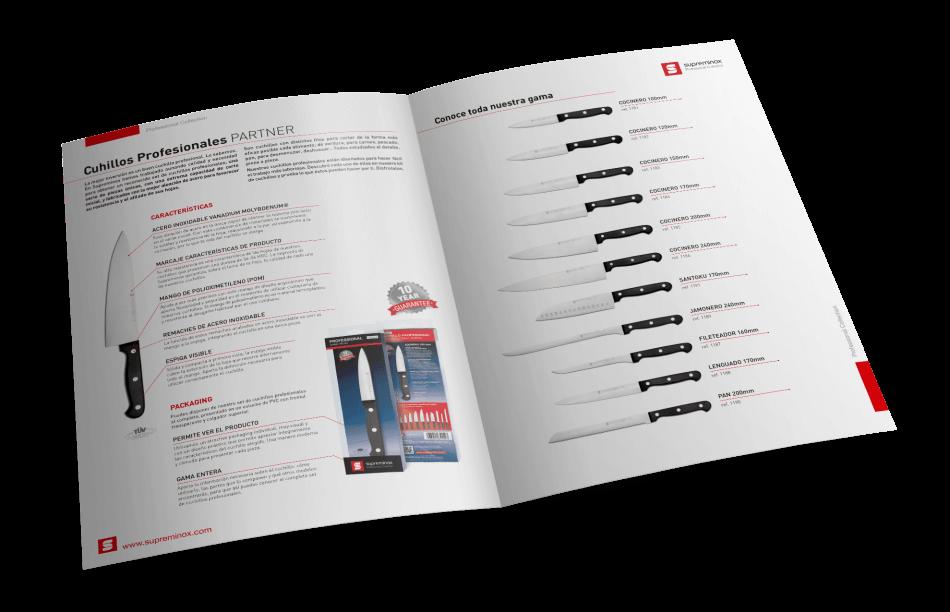 Professional knives send document design 950x612 - Cuchillos Profesionales Supreminox, un proyecto de comunicación global