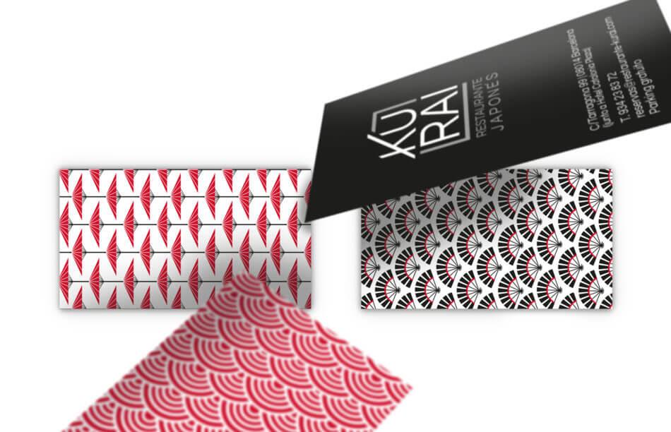 HC Kurai logotype business card 950x612 - Creación de branding para Kurai, restaurante japonés de Barcelona