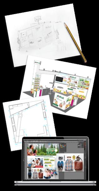 graphic stand design production 318x612 - Un stand para Alimentaria