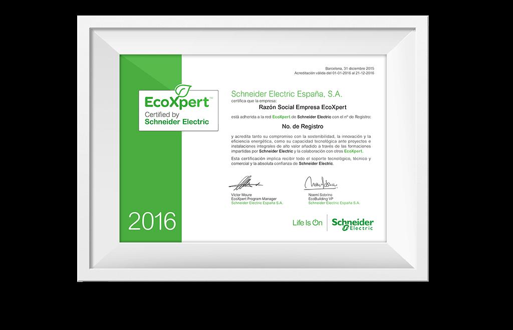 certificado ecoXpert disseny 1 - Comunicación y estrategia comercial de EcoXpert