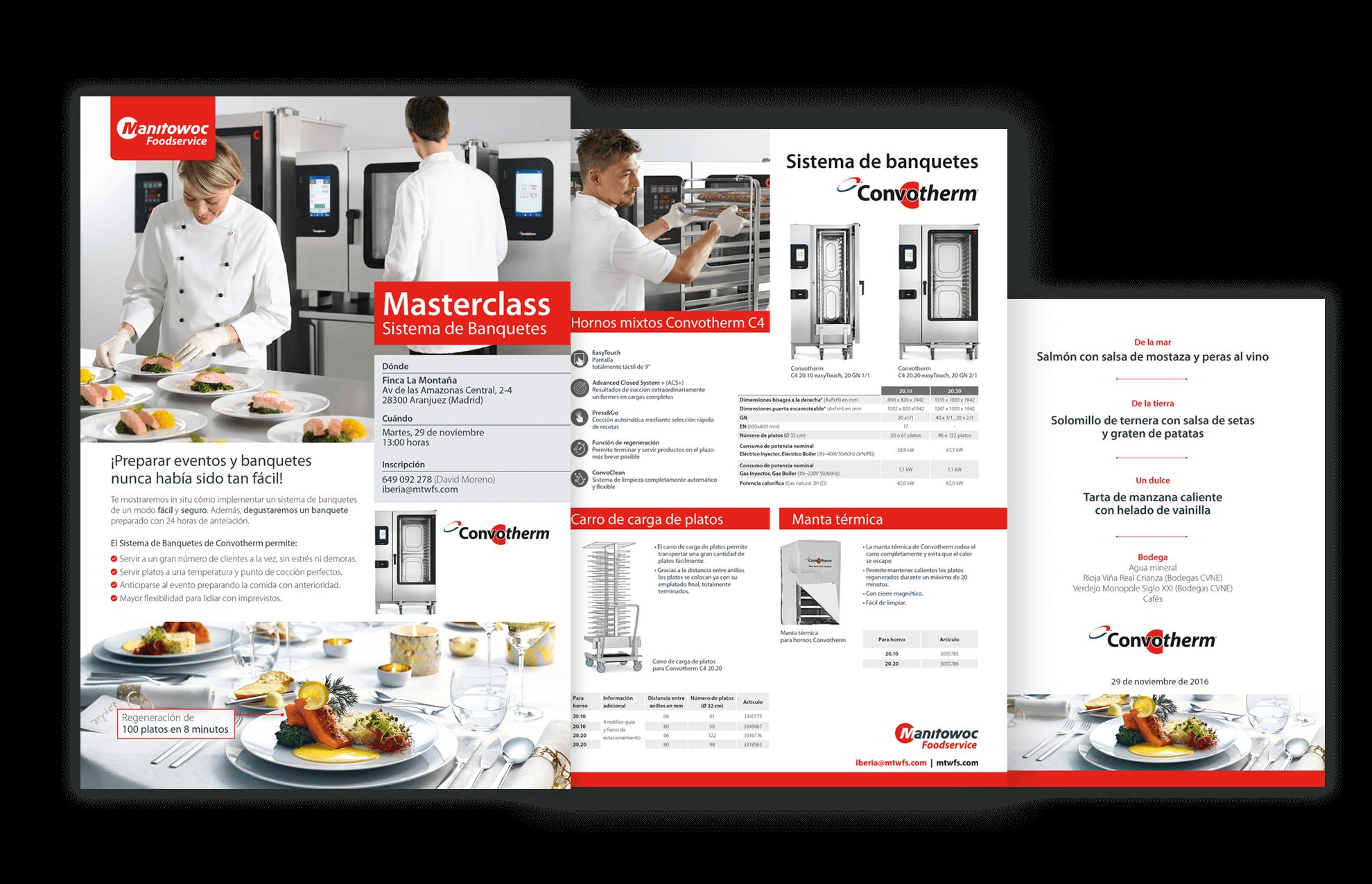 elementos comunicacion eventos barcelona - Soluciones en marketing, diseño gráfico... para Manitowoc