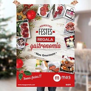 carteles festividad navidena barcelona - Cartelería especial para Mas Gourmets