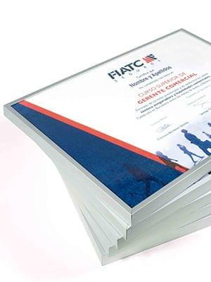 FIATC Diploma Gerente Comercial - Diseño y producción de diplomas RRHH
