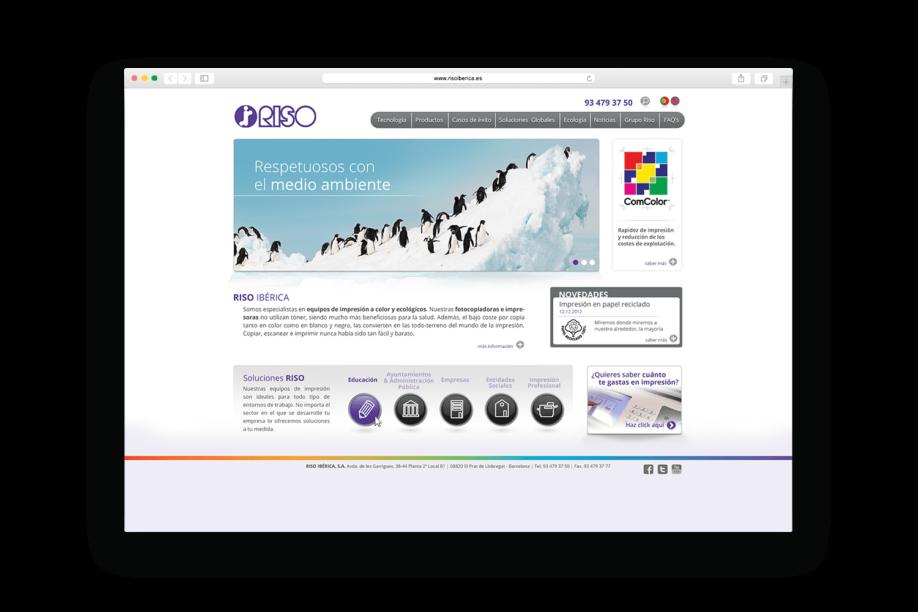 diseno web barcelona riso min 1 918x612 - La firma japonesa de impresión digital Riso estrena página web