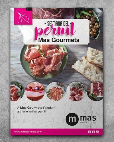 disseny barcelona estudi grafic mas - Cartelería promocional de charcutería