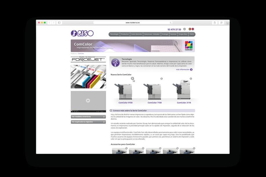 estudi de disseny barcelona riso min 918x612 - La firma japonesa de impresión digital Riso estrena página web
