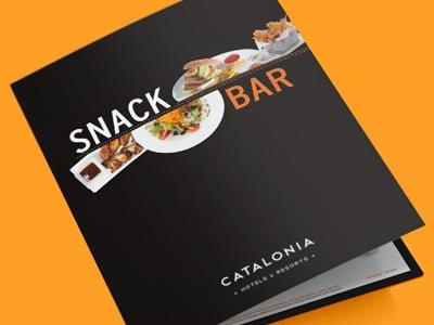 studio barcelona design snack bar - Diseño y producción de cartas para restaurante