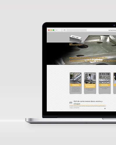 web design in barcelona - Web design for the industrial sector