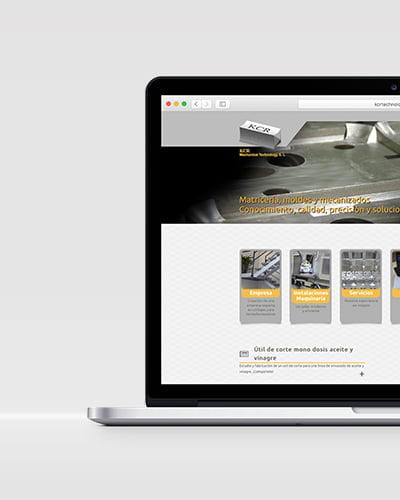 web design in barcelona - Diseño web para el sector industrial