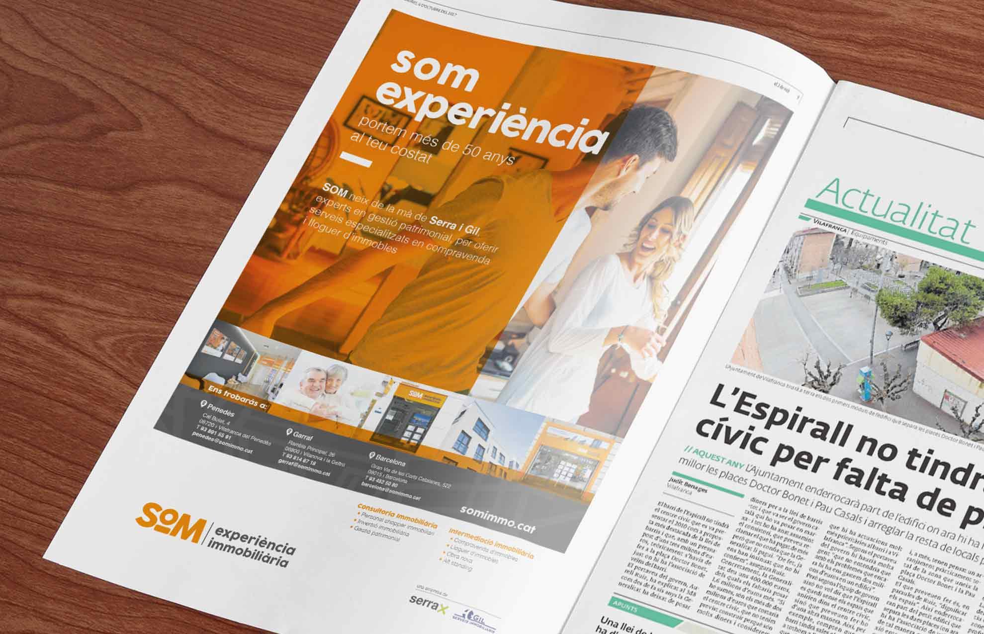 cartell anunci premsa estudi de disseny immobiliaria - Proyecto de comunicación, diseño y branding 360º