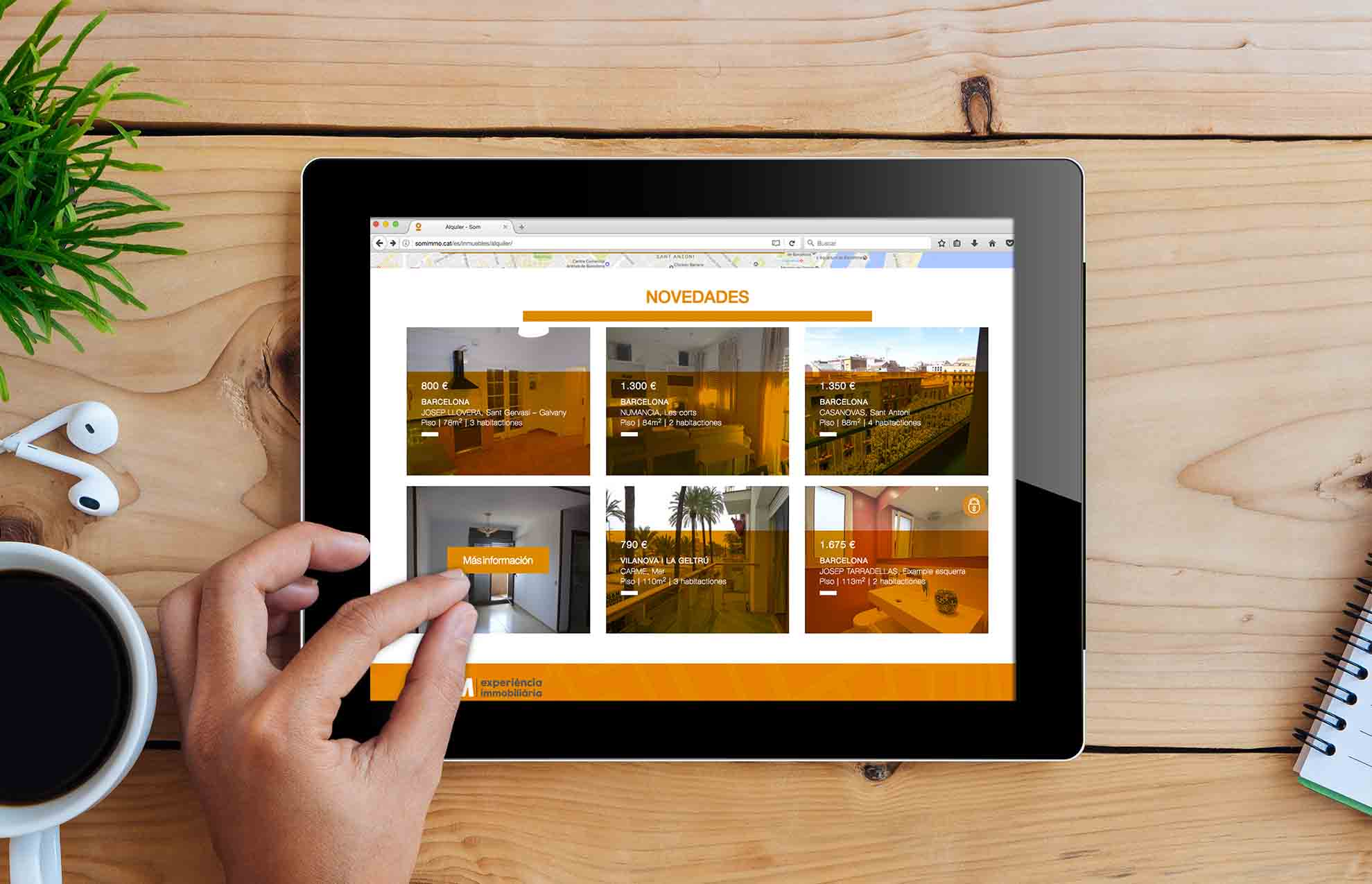 disseny web inmobiliaria barcelona - Proyecto de comunicación, diseño y branding 360º