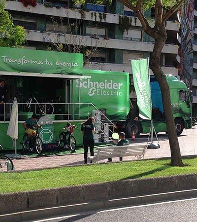 diseno comunicacion para eventos comerciales - Road Show - Experience Efficiency Schneider Electric