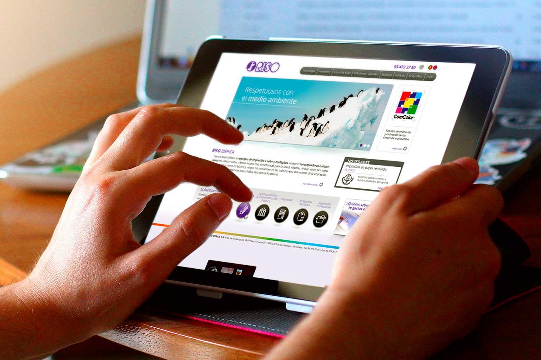estudio diseno web barcelona riso - La firma japonesa de impresión digital Riso estrena página web