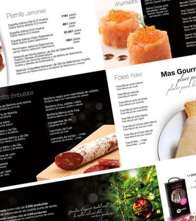mas gourmets nadal1 - Diseño de catálogo de productos gourmet