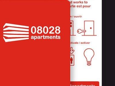08028 apartaments branding graphic design - Desarrollo de señaletica para apartahotel
