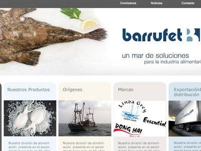 Barrufet web design alimentacion - Arquitectura gràfica i disseny web