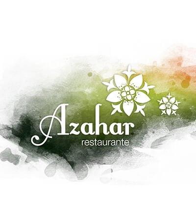 Logotipo estudio barcelona Azahar - Imagen de marca para restaurante