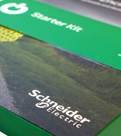 Schneider starterkit editorial - Desenvolupament de kit promocional