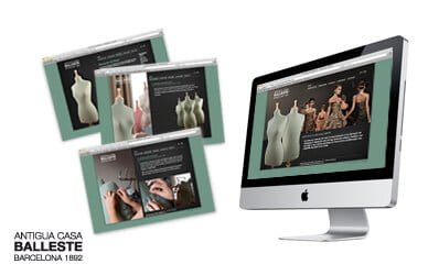 balleste - Diseño web para Antigua Casa Balleste