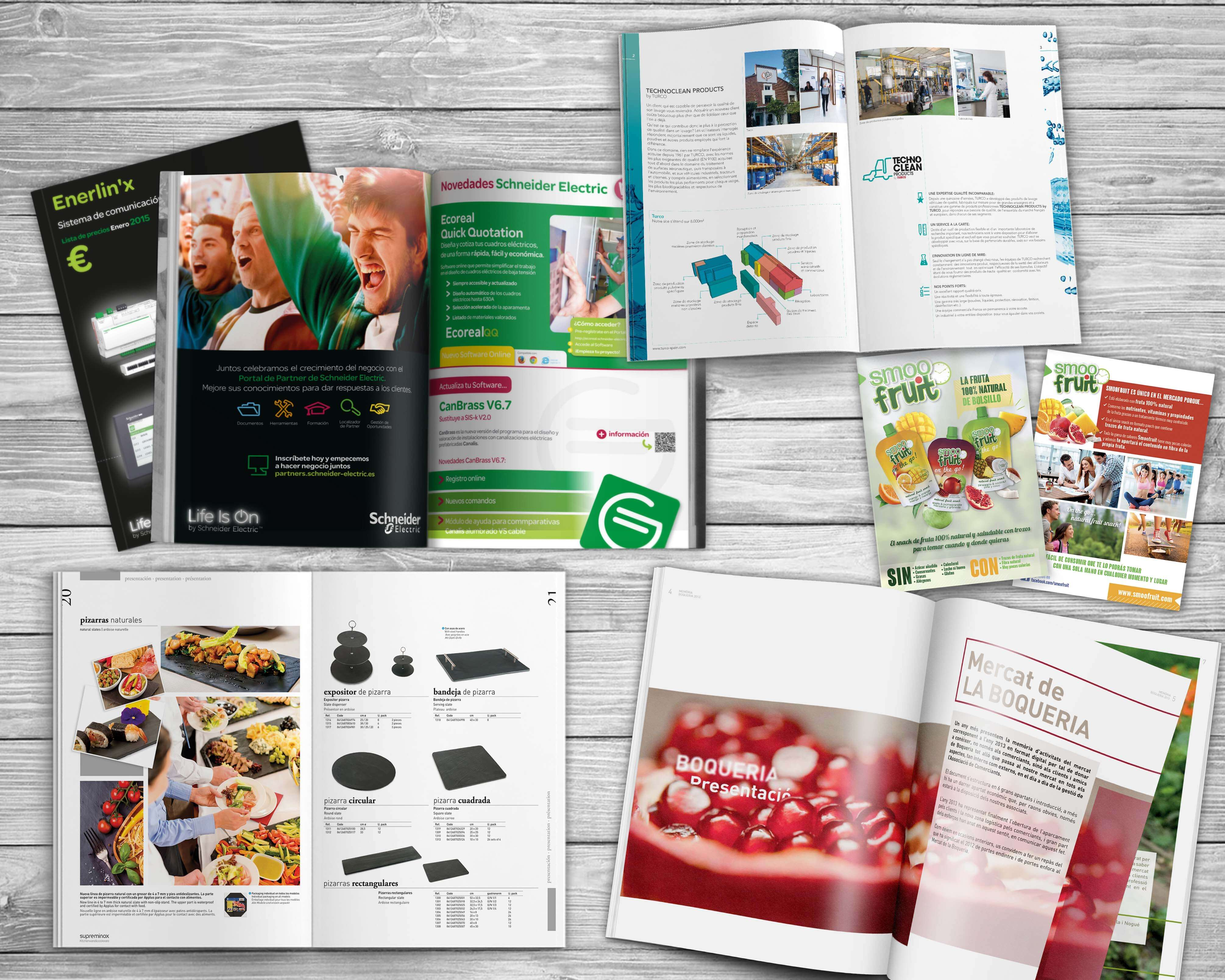 catalogue design barcelona - Design of catalogs, product and promotional brochures