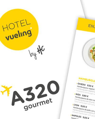 hotel vueling - Retolació i elements comunicatius per a hotel