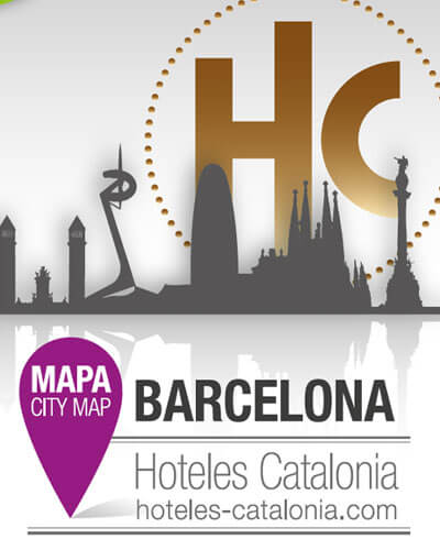 hoteles catalonia barcelona branding - Diseño gráfico de mapa de hoteles