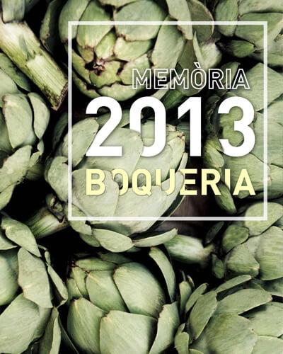 Boquería Memoria Mediactiu editorial design cover1 - Maquetación de la memoria anual de la Boqueria