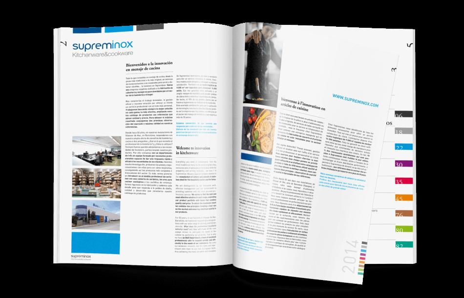 estudio diseno bcn catalogo 950x612 - Diseño del Catálogo de Supreminox 2014