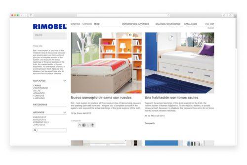 creacion de webs en barcelona rimobel 500x333 - Estrategia comercial para Rimobel