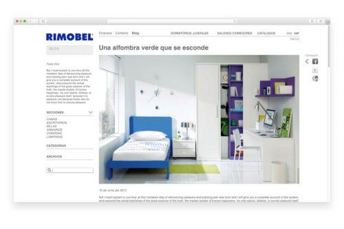 disseny web barcelona rimobel 500x333 - Estrategia comercial para Rimobel