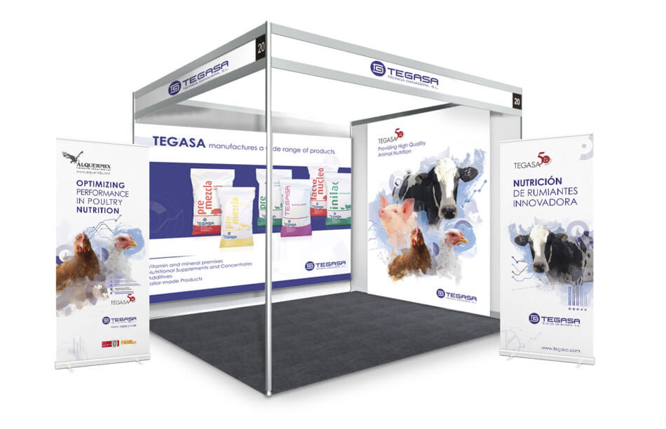 Stand roll up marketing nutrici n animal mediactiu for Design de stand