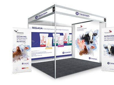 Tegasa stand eventos marketing - Stand. Roll up. Marketing. Nutrición animal