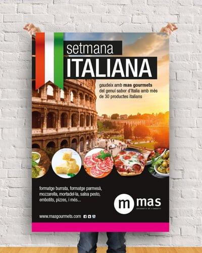 Mas Gourmets graphic design barcelona - Diseño de cartelería para MAS Gourmets