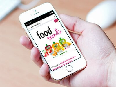 Foodtrends responsive web design1 - Web design. Graphic design. Foodtrends