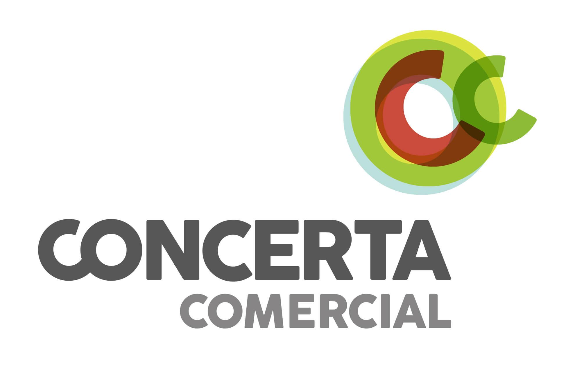 Concerta comercial branding design1 - Branding de marca y aplicación offline y online