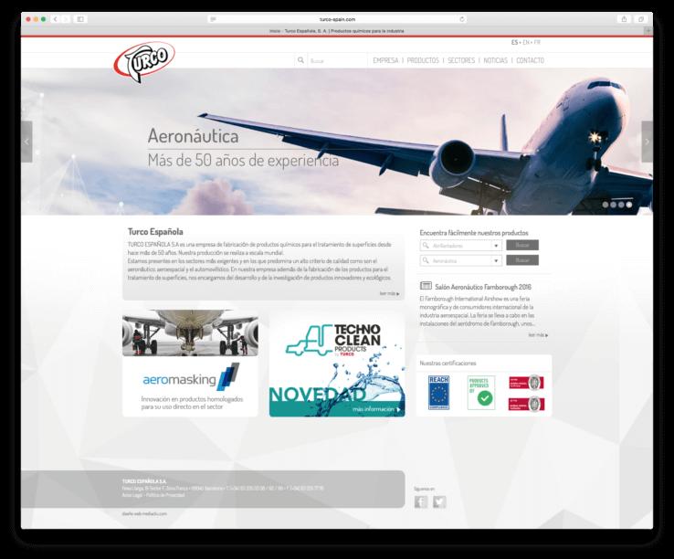 bcn design web template 738x612 - Creación de la nueva web de  la compañía TURCO ESPAÑOLA S.A