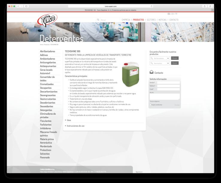 web design barcelona creation 738x612 - Creación de la nueva web de  la compañía TURCO ESPAÑOLA S.A