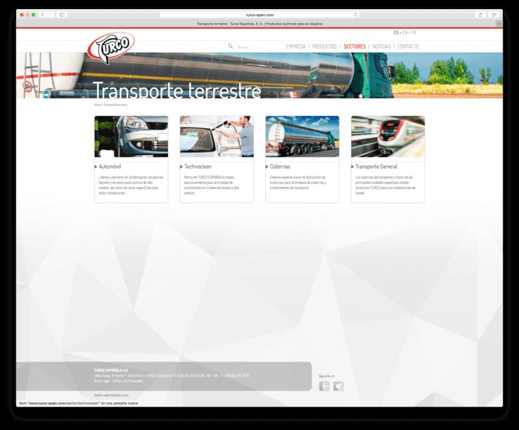 web servicios limpieza Barcelona 738x612 - Creación de la nueva web de  la compañía TURCO ESPAÑOLA S.A